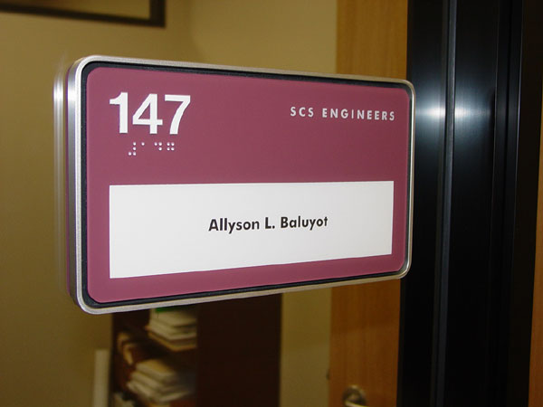 Room Sign W/ Magnetic Back, Sign Type: Cubicle Sign